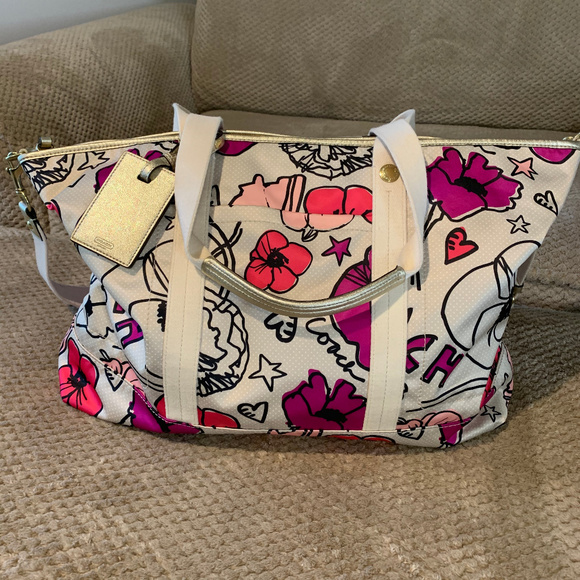 Coach Handbags - Coach Poppy Kyra Floral Weekender Travel Bag